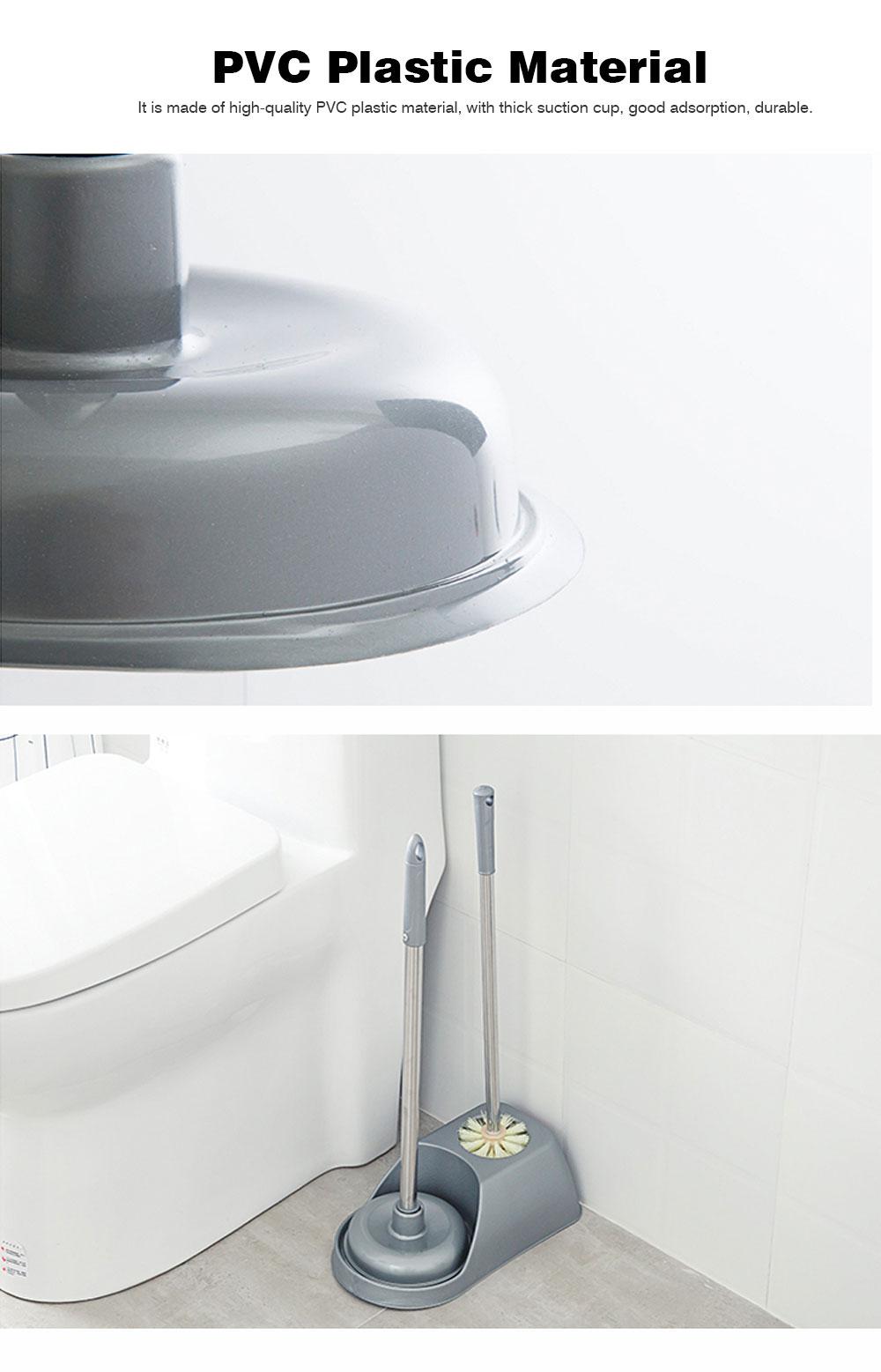 Household Toilet Brush Set, Powerful Brush Set for Cleaning Toilet 2