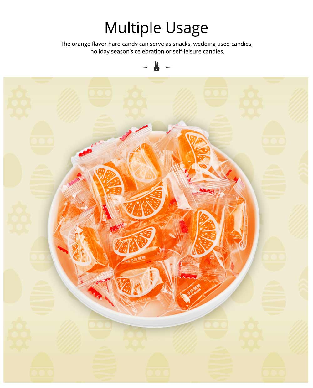 Orange Flavor Hard Candy for Wedding, Traditional Orange Segment Shape Candy of 0.5KG as One Package 5