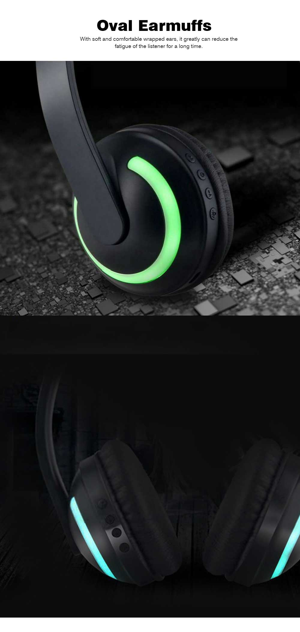 New Cat Ear Bluetooth Headset, Head-mounted Bluetooth Headset for Boys, Wireless Game Headphones 4