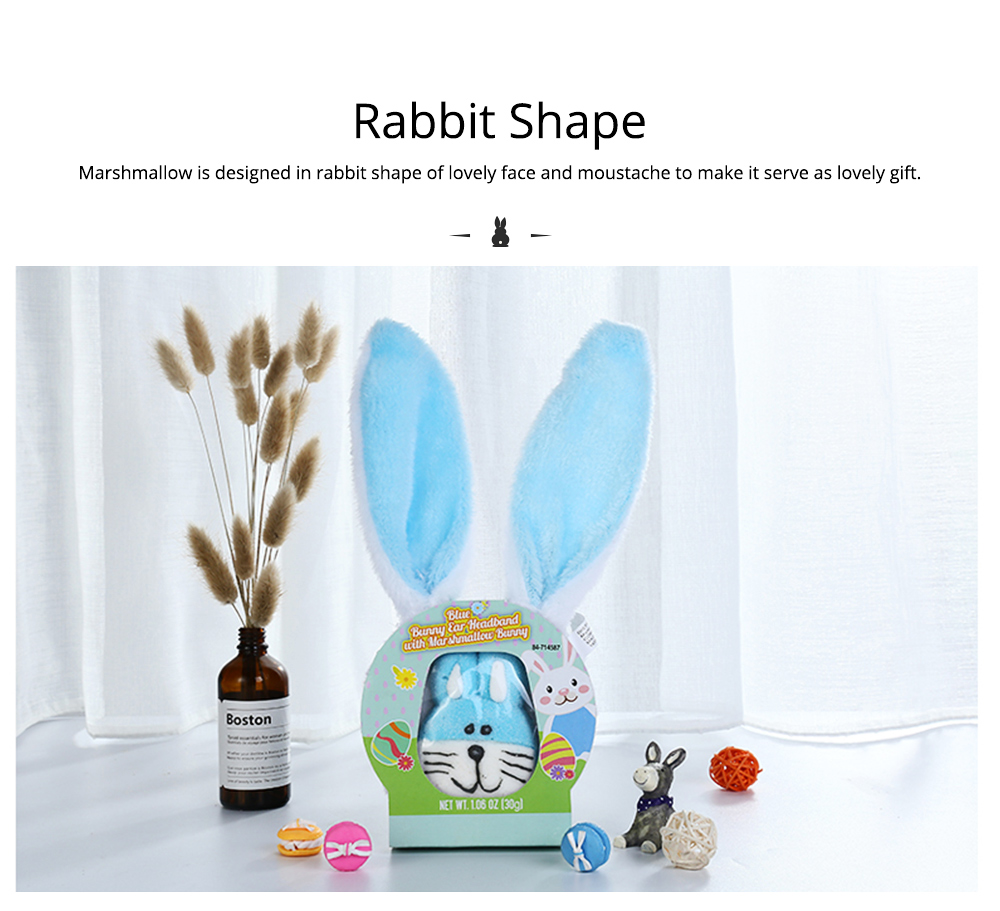 Rabbit Shape Marshmallow for Girlfriend as Birthday Gift, Creative Rabbit Cotton Candy A Pair as Present Rabbit Candy Floss 1