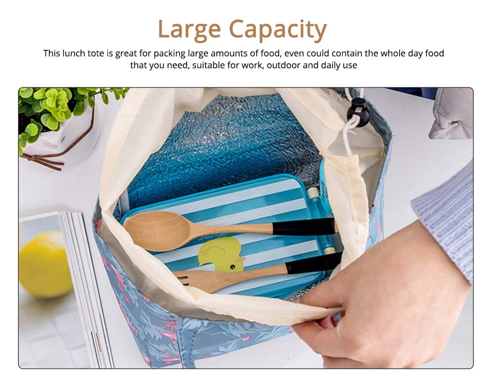 Thermal Bag for Picnic Lunch, Waterproof Thermal Lunch Bag with Strong Thermal Insulation Cooler Function 4