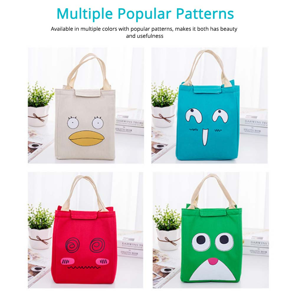 Cartoon Pattern Insulated Bag with Reinforced Handle, Portable Picnic Lunch Waterproof Cooler Bag for School, Office, Camping 5