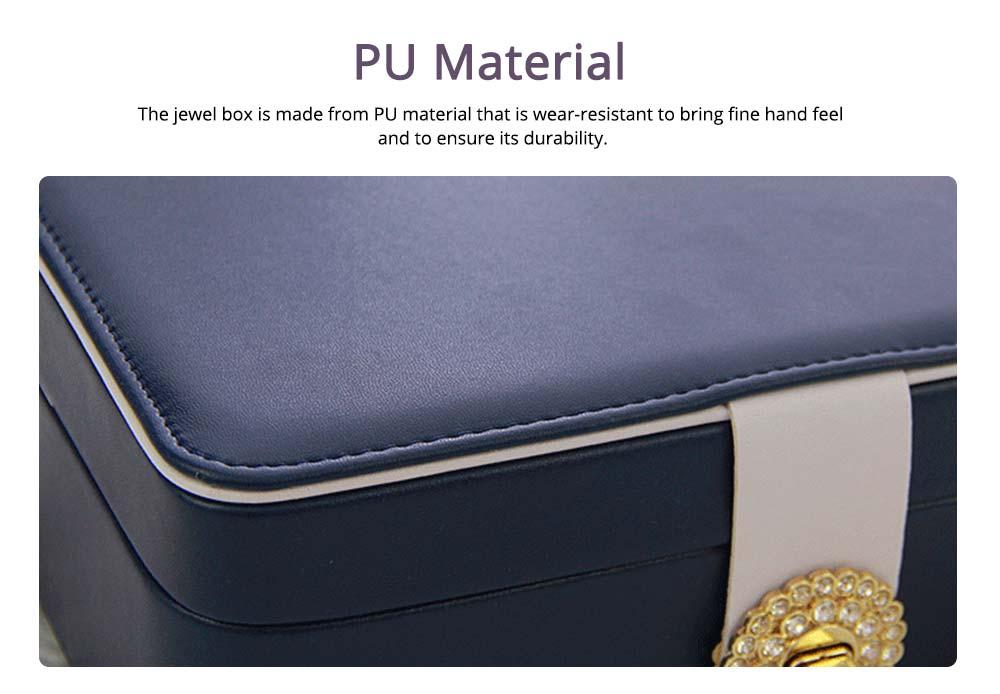 European Style Jewelry Storage Box of Double-layer Design, Simple Jewelry Storage Box for Earrings Ear Studs 1