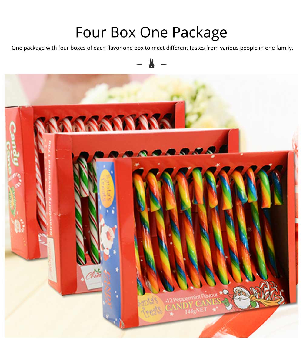 Candy Cane Gift Box for Easter Day, Rainbow Color Lollipop Creative Present Cane Candy, Multiple Taste 14