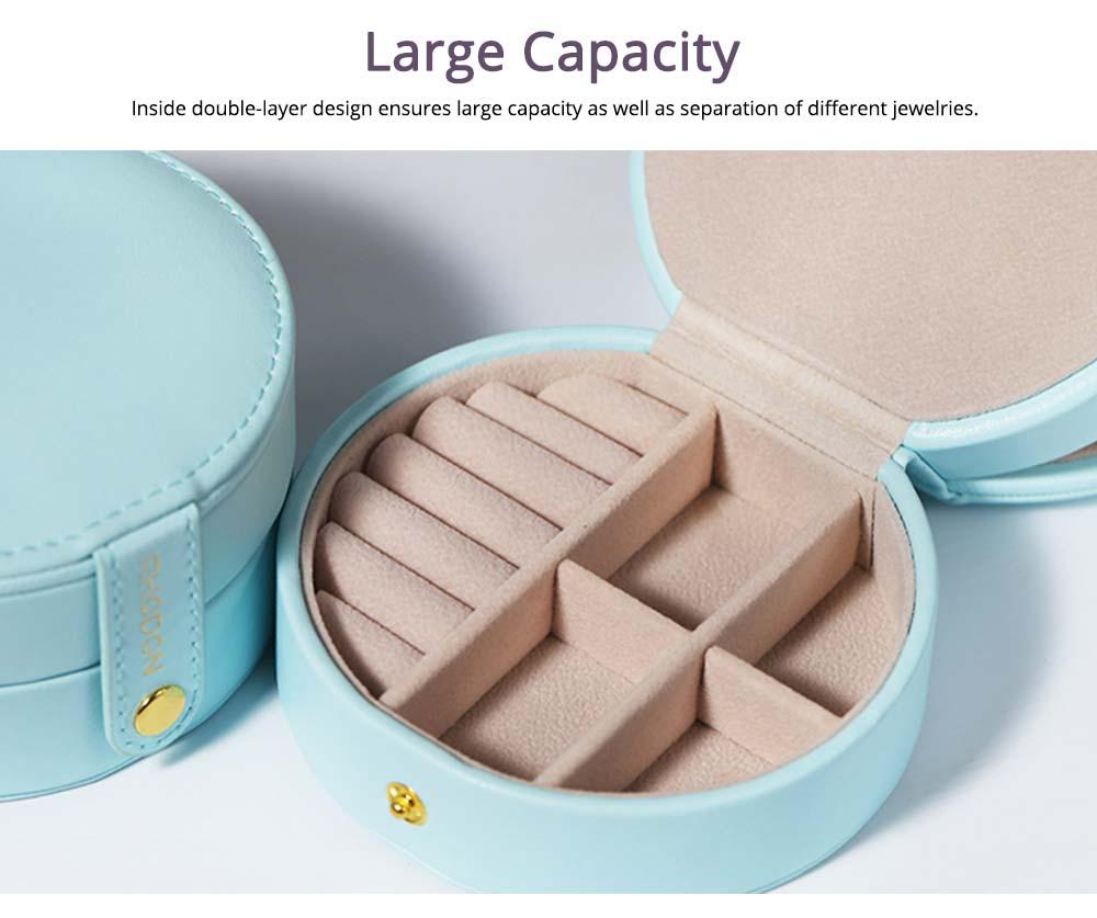 Portable Jewelry Box for Travel, Multipurpose Mini Jewelry Storage Box, European Style 4