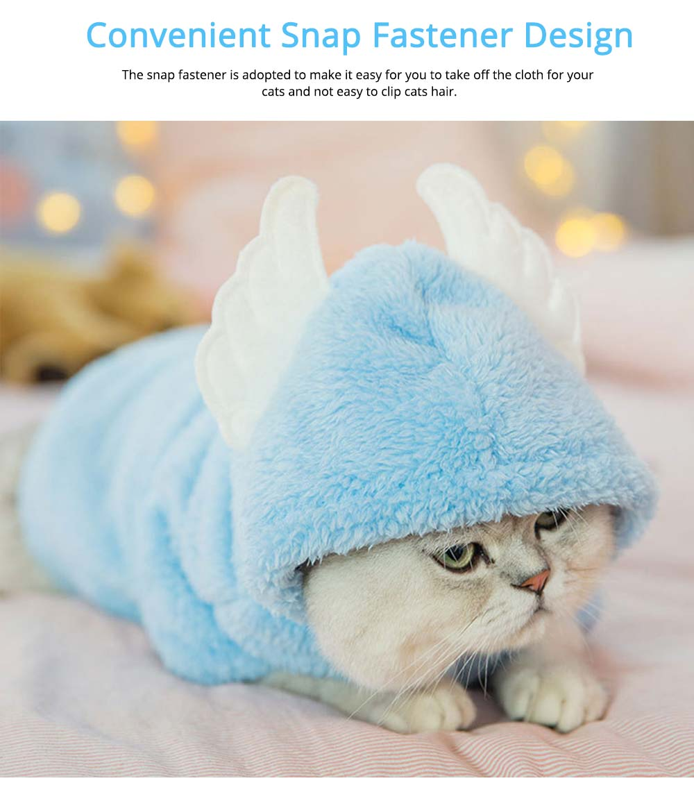 Cute Wing Model Plush Cats Two-feet Pet Clothes, Stylish Pet Clothes Costume Apparel with Animal Ears Especially for Cats 4