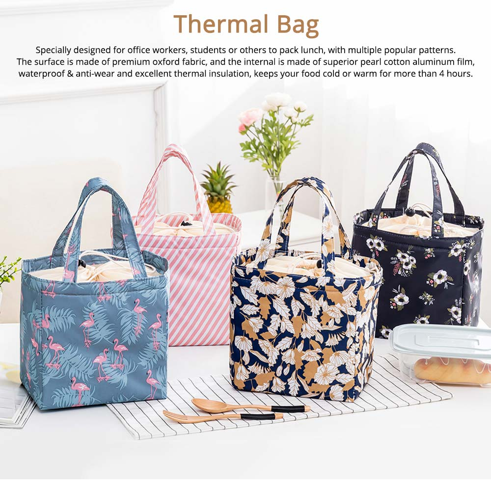 Thermal Bag for Picnic Lunch, Waterproof Thermal Lunch Bag with Strong Thermal Insulation Cooler Function 0