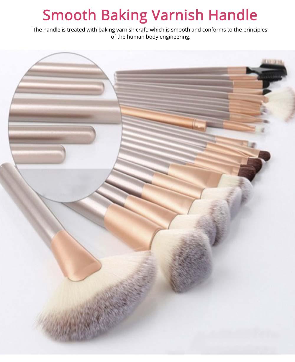 Champagne Makeup Brushes Set, Professional Cosmetic Brushes for Powder Foundation Eyebrow, 12PCS 18PCS 24PSC 2
