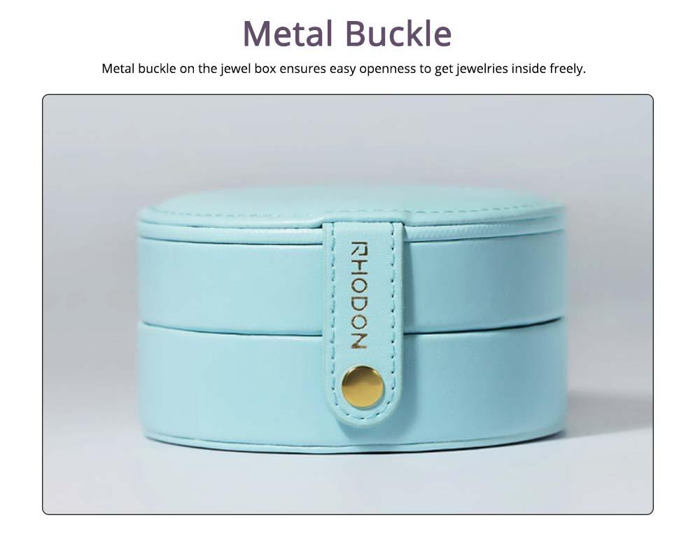 Portable Jewelry Box for Travel, Multipurpose Mini Jewelry Storage Box, European Style 3