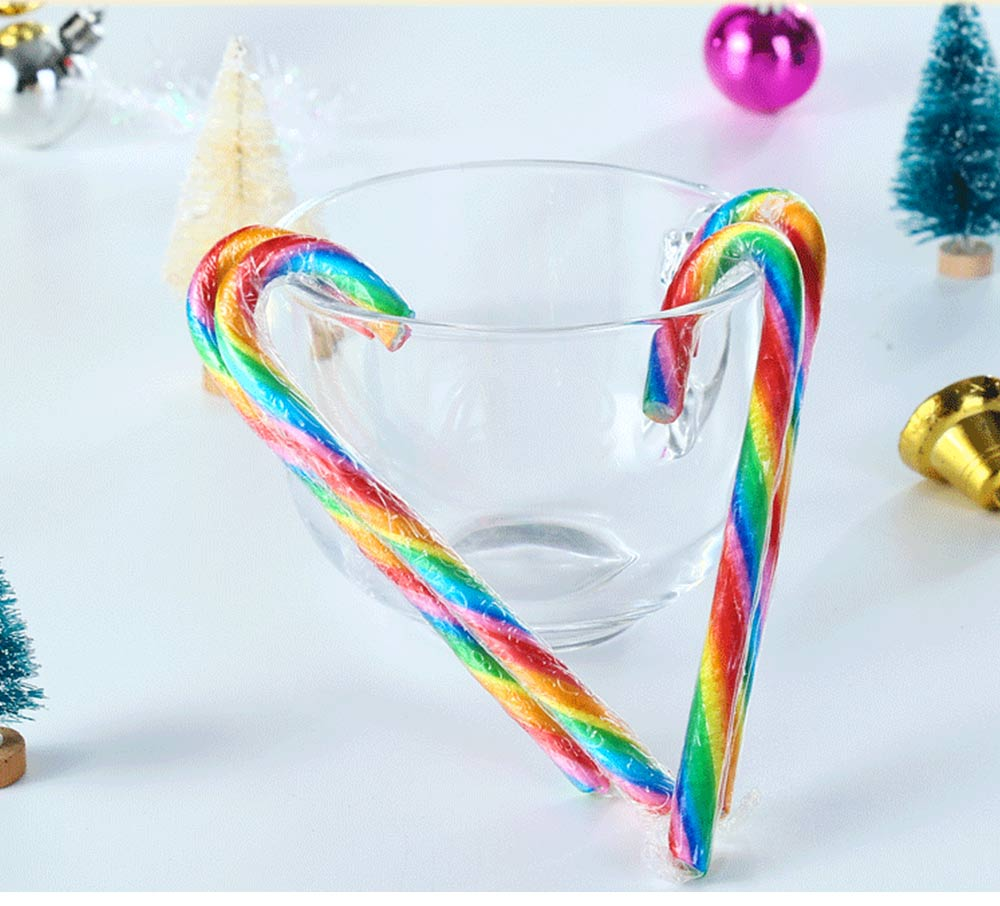 Candy Cane Gift Box for Easter Day, Rainbow Color Lollipop Creative Present Cane Candy, Multiple Taste 13