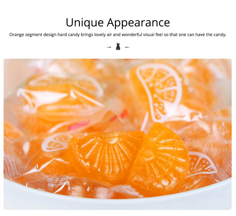 Orange Flavor Hard Candy for Wedding, Traditional Orange Segment Shape Candy of 0.5KG as One Package 3