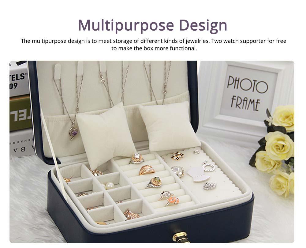 European Style Jewelry Storage Box of Double-layer Design, Simple Jewelry Storage Box for Earrings Ear Studs 4