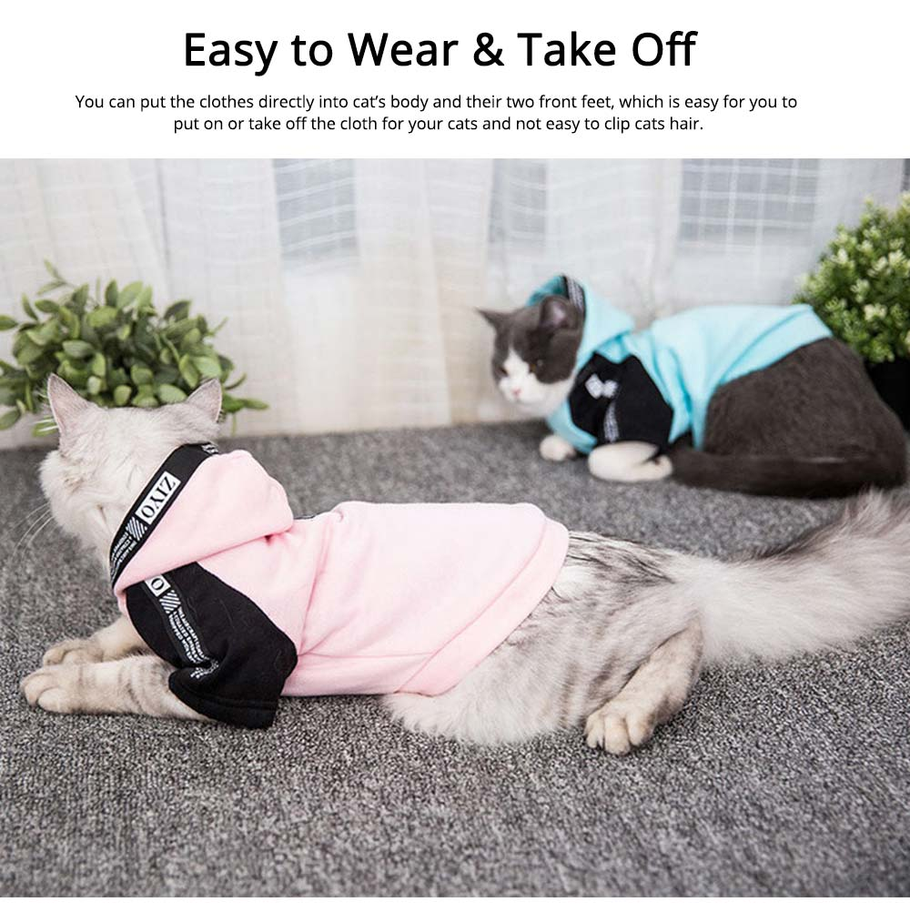 Milk Silk Cats Two-feet Pet Clothes, Stylish Pet Clothes Costume Apparel with Fashion Athletic Tape Especially for Cats, Skin Friendly  4