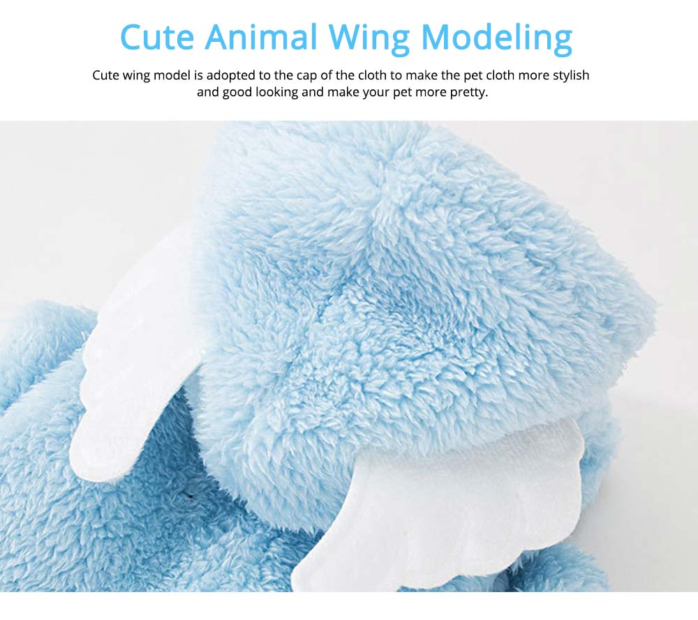 Cute Wing Model Plush Cats Two-feet Pet Clothes, Stylish Pet Clothes Costume Apparel with Animal Ears Especially for Cats 3