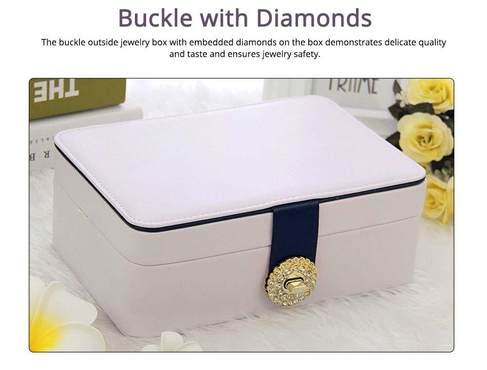 European Style Jewelry Storage Box of Double-layer Design, Simple Jewelry Storage Box for Earrings Ear Studs 3