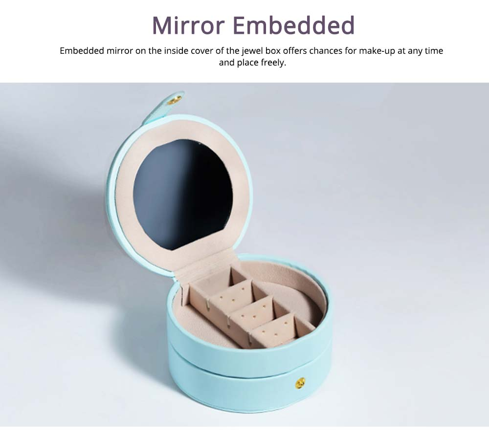 Portable Jewelry Box for Travel, Multipurpose Mini Jewelry Storage Box, European Style 5