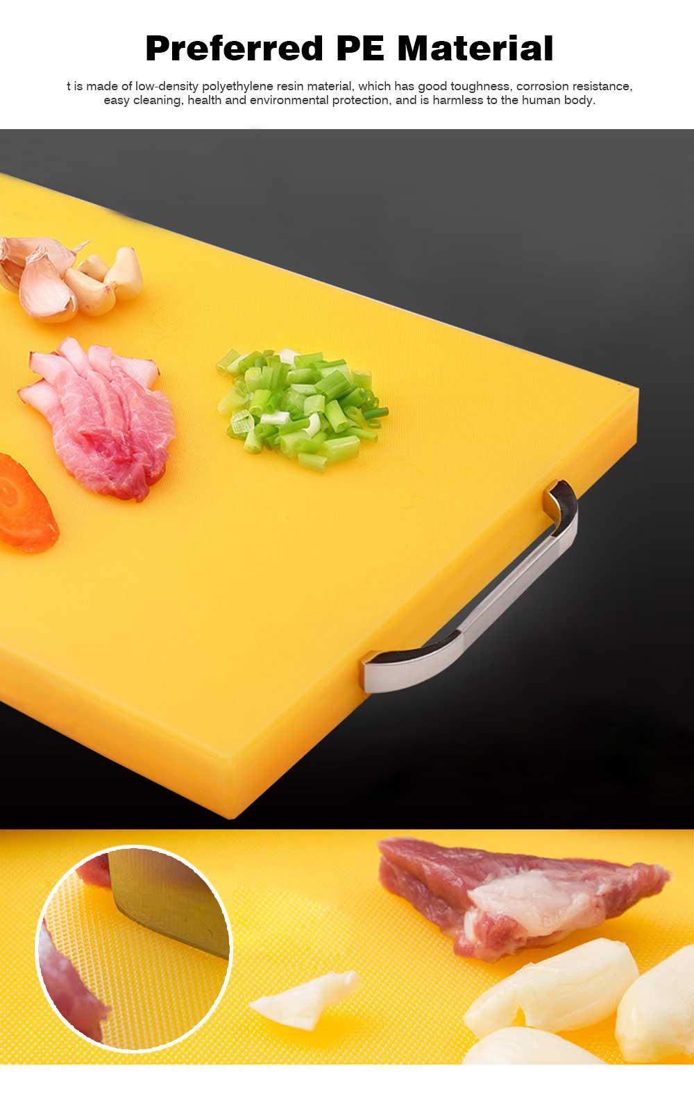 Anti-slip Multi-function Cutting Board, High-quality PE Cutting Board for Cutting Cooked Food, Vegetables, Fruits 1