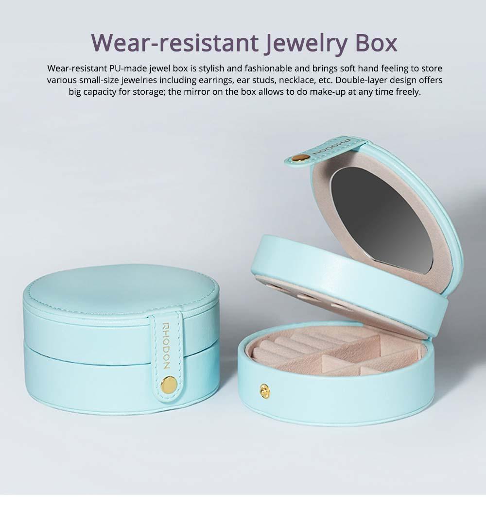 Portable Jewelry Box for Travel, Multipurpose Mini Jewelry Storage Box, European Style 0