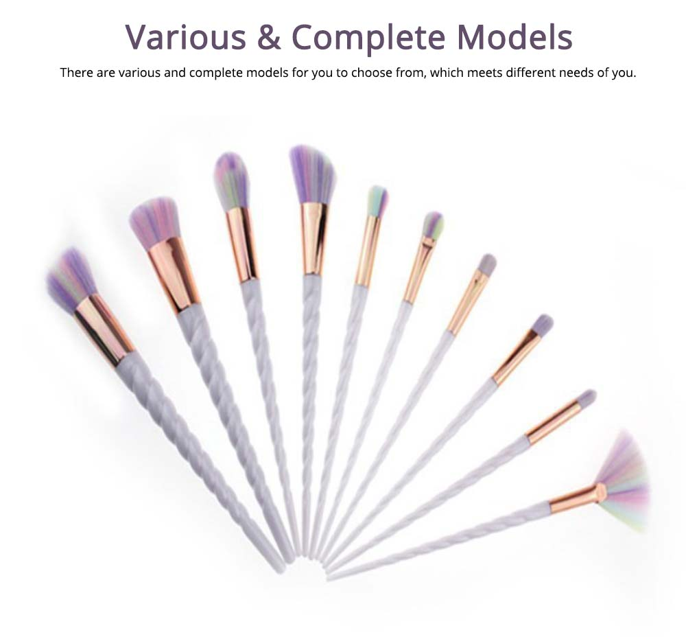 Unicorn Makeup Brushes Set, Pretty Eyeshadow Blending Foundation Powder Blush, 5PCS, 10PCS  5