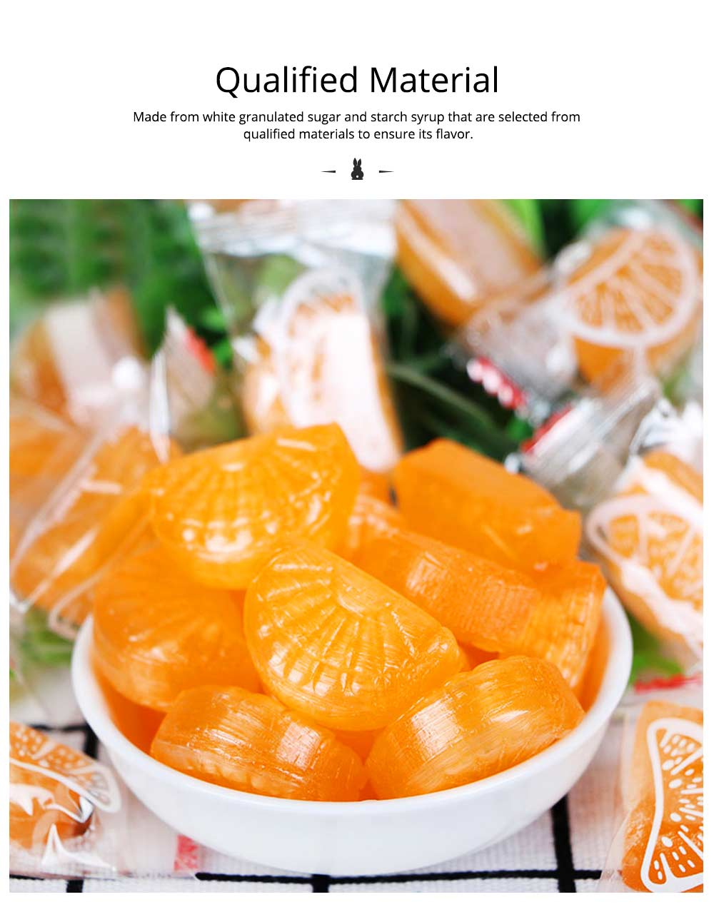 Orange Flavor Hard Candy for Wedding, Traditional Orange Segment Shape Candy of 0.5KG as One Package 1