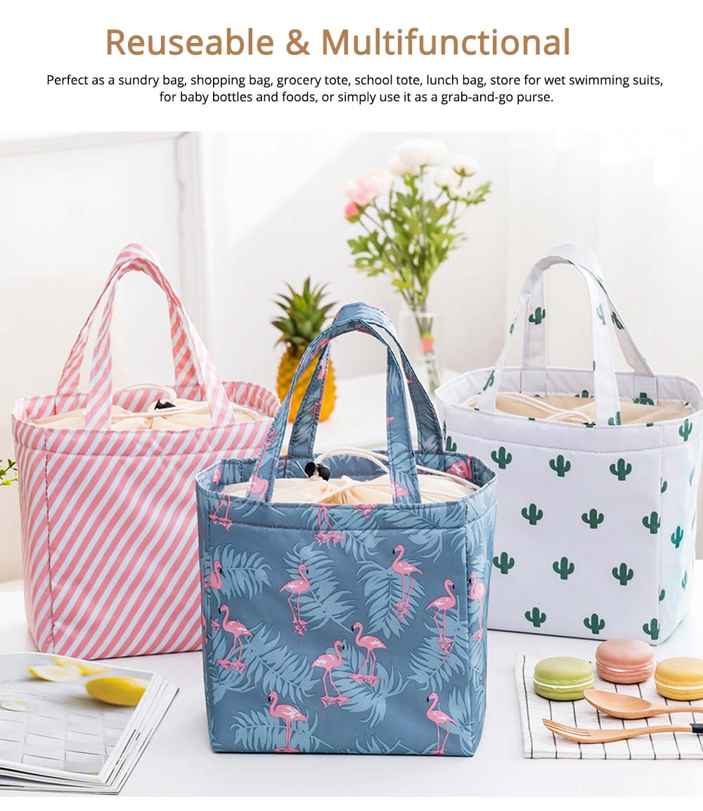 Thermal Bag for Picnic Lunch, Waterproof Thermal Lunch Bag with Strong Thermal Insulation Cooler Function 5