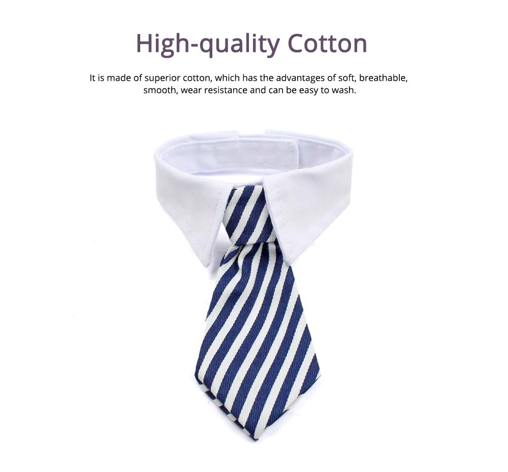 Fashion Ultrasoft Cotton Checked Business Pet Tie, Breathable Wearable Tie Scarf Costume Decoration for Small Pets 2