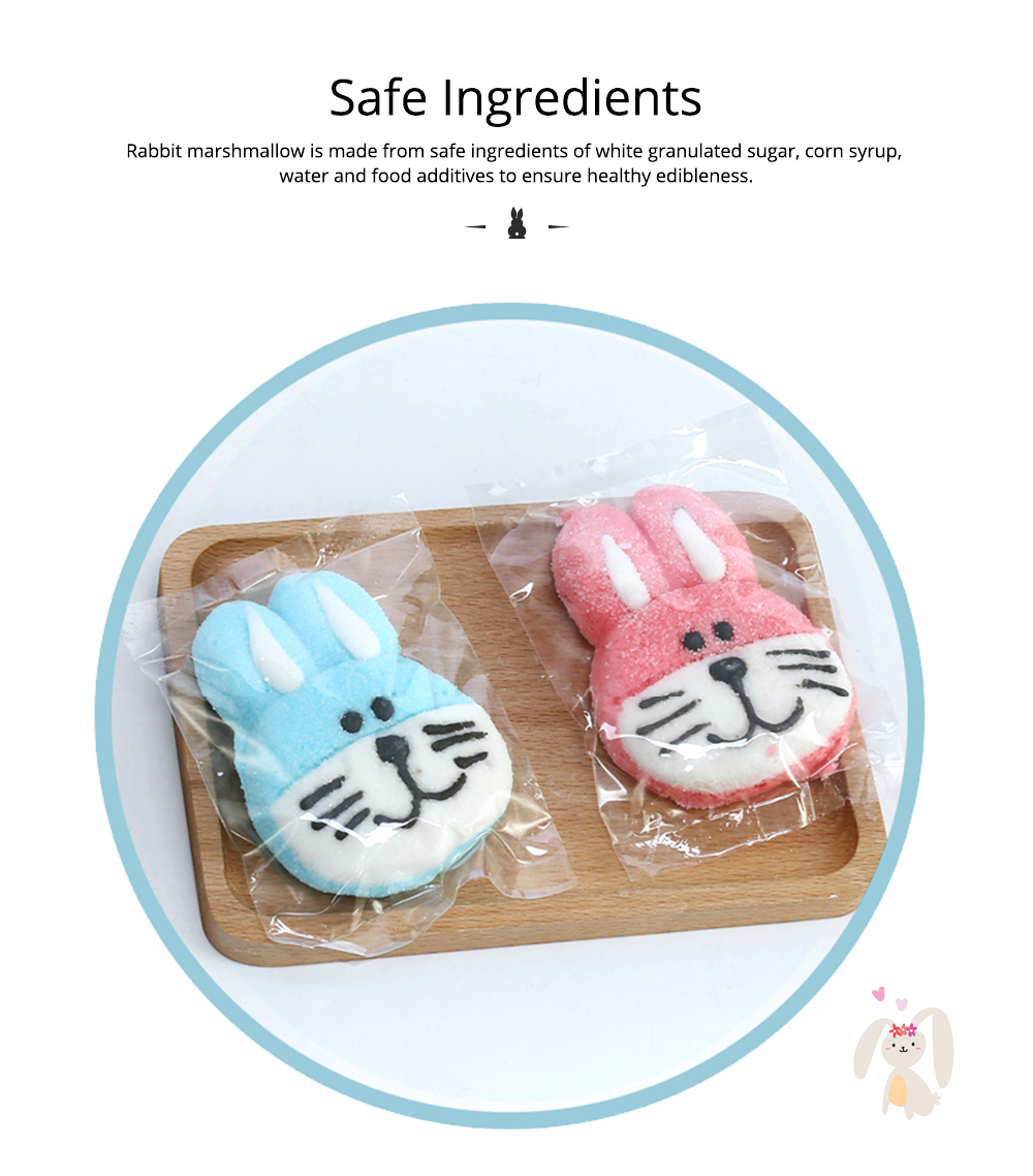 Rabbit Shape Marshmallow for Girlfriend as Birthday Gift, Creative Rabbit Cotton Candy A Pair as Present Rabbit Candy Floss 4