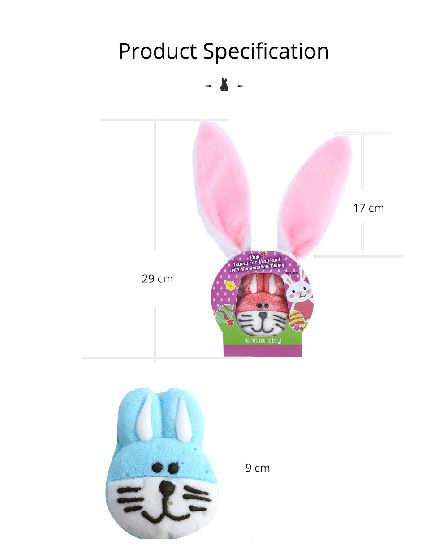Rabbit Shape Marshmallow for Girlfriend as Birthday Gift, Creative Rabbit Cotton Candy A Pair as Present Rabbit Candy Floss 7