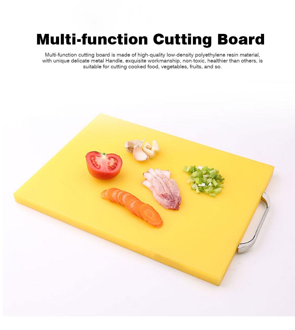 Anti-slip Multi-function Cutting Board, High-quality PE Cutting Board for Cutting Cooked Food, Vegetables, Fruits 0