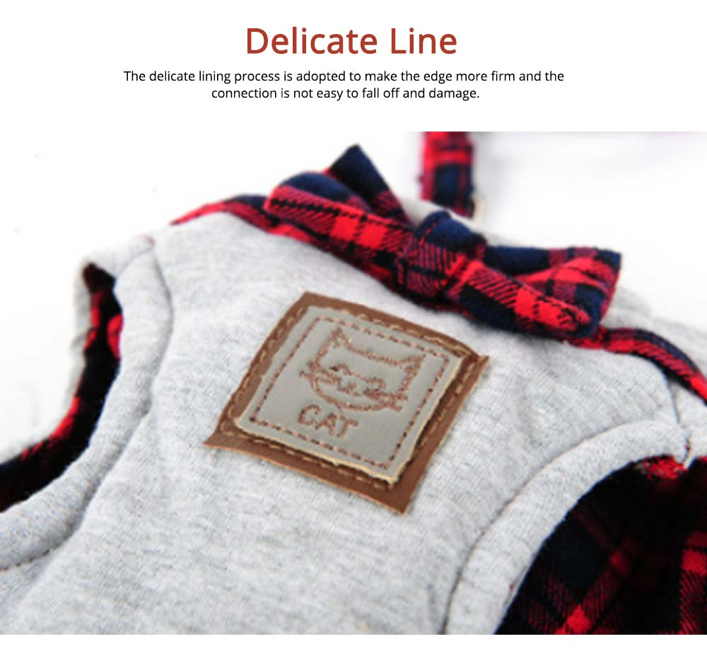 Cotton Cat Walking Traction Rope with Fashion Tie Bow, Hardness Lead Leash Rope with Convenient Magic Tape 3