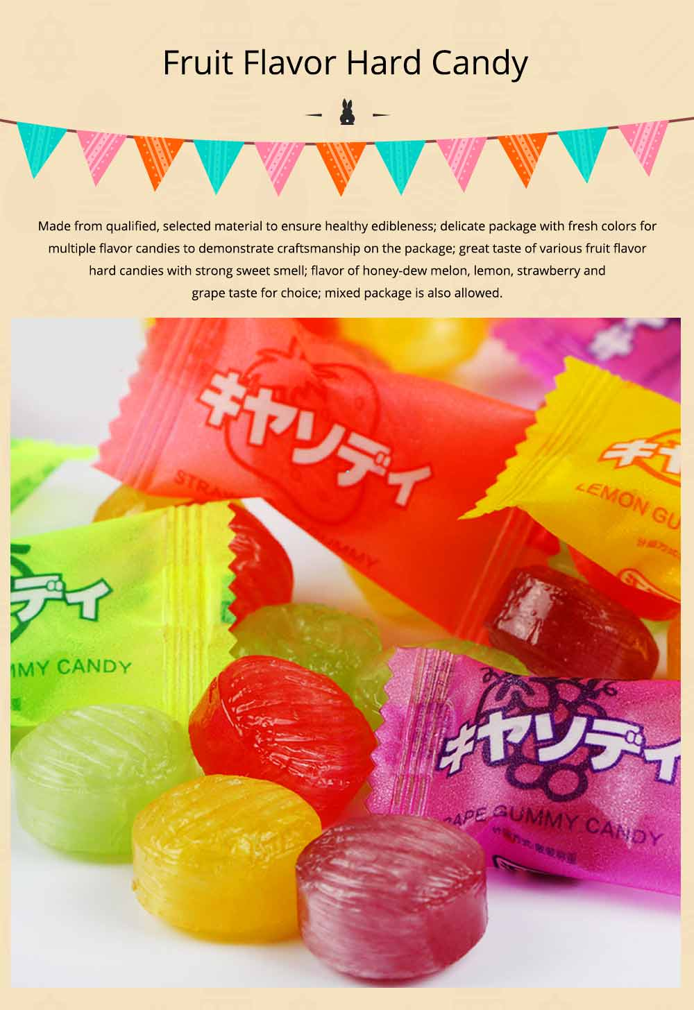 Fruit Flavor Hard Candy for Wedding Snacks, Mixed Package Multiple Flavor Bulk Package Hard Candies, Grape Lemon Flavor 0