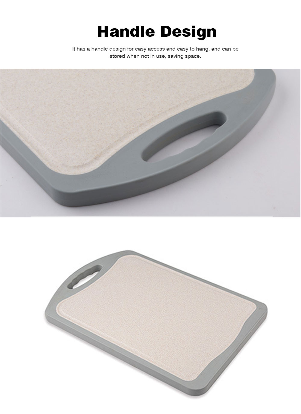 Whole Bamboo Fiber Composite Cutting Board, Healthy Non-slip Cutting Board for Cutting Cooked Food, Vegetables, Fruits 5