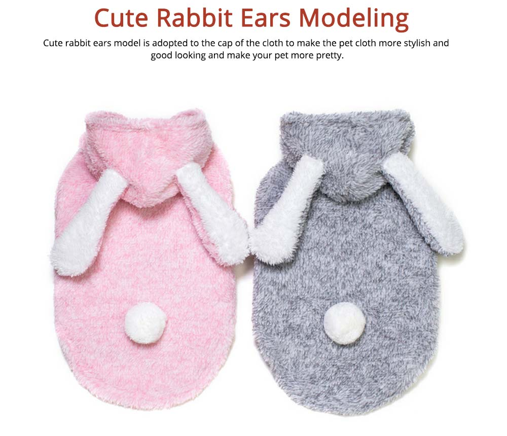 Plush Cats Two-feet Pet Clothes, Cute Rabbit Ears Model, Stylish Pet Clothes Costume Apparel 3