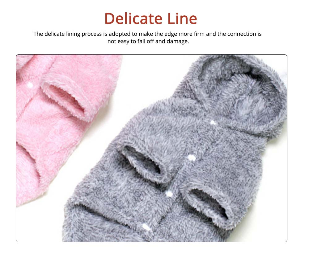 Plush Cats Two-feet Pet Clothes, Cute Rabbit Ears Model, Stylish Pet Clothes Costume Apparel 2