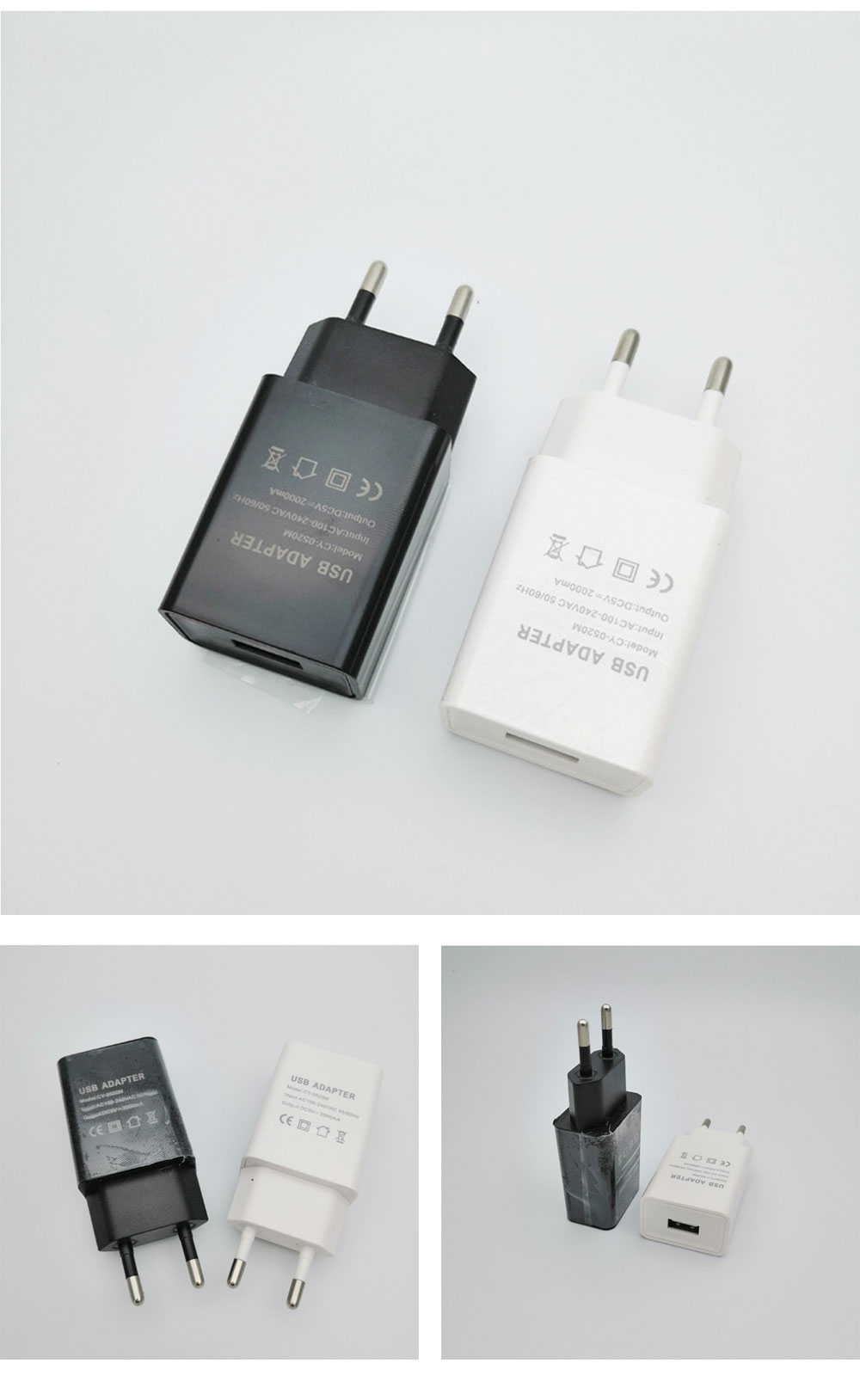 Intelligent Phone Charger, Charger for iPhone, SmartPhone, 2A USB Mobile Phone Charger 6