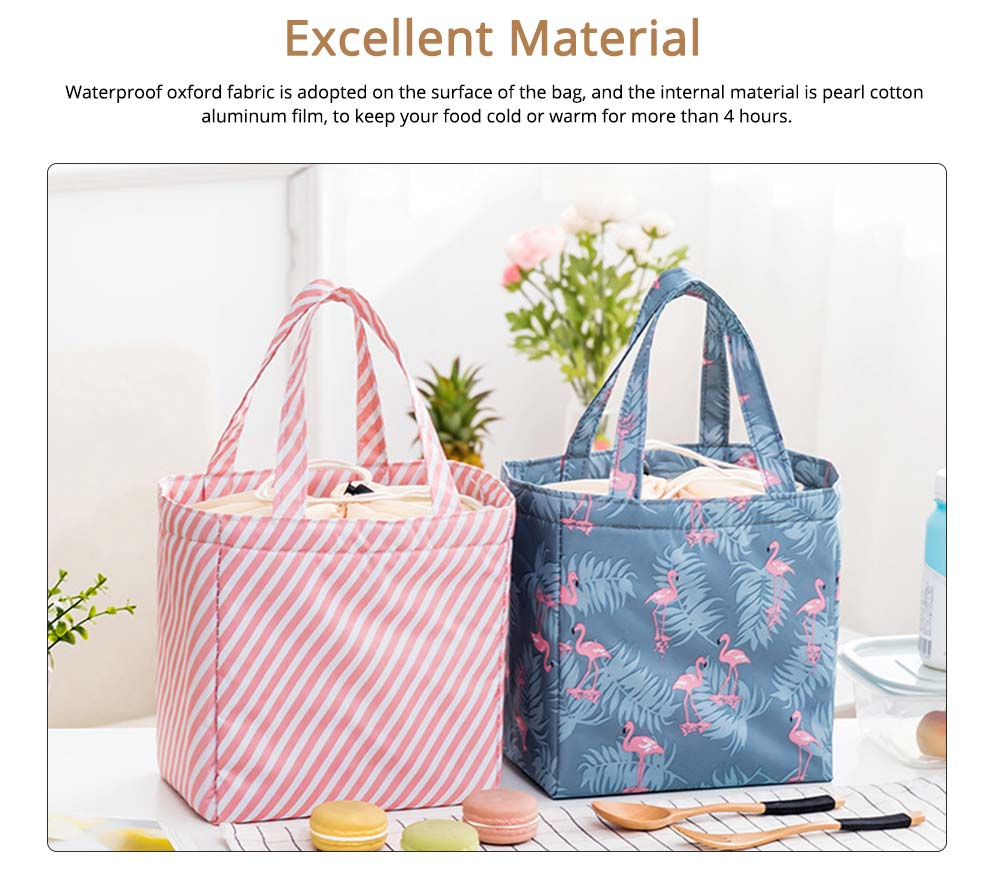 Thermal Bag for Picnic Lunch, Waterproof Thermal Lunch Bag with Strong Thermal Insulation Cooler Function 2