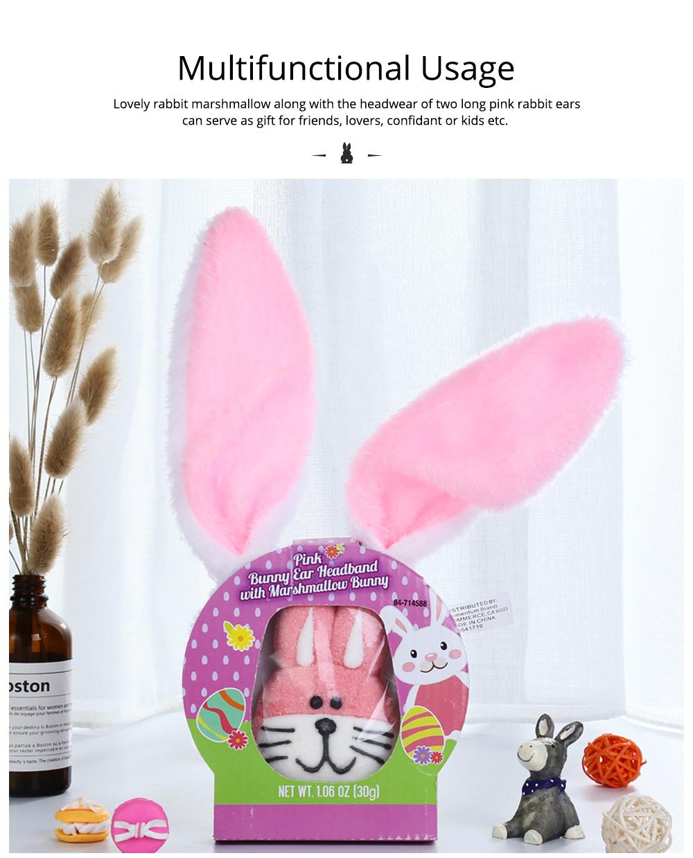 Rabbit Shape Marshmallow for Girlfriend as Birthday Gift, Creative Rabbit Cotton Candy A Pair as Present Rabbit Candy Floss 6