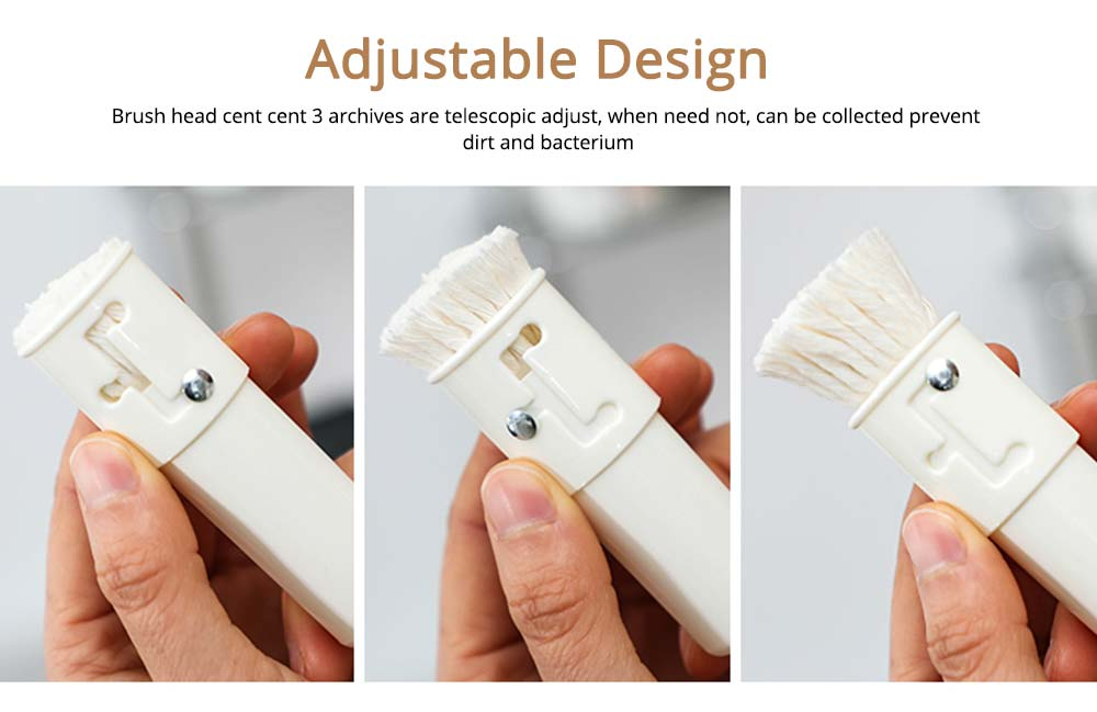 White Natural Cotton Oil Brush with Dust cover and Adjustable Design, Kitchen Tools Soft Sauce Brush 4