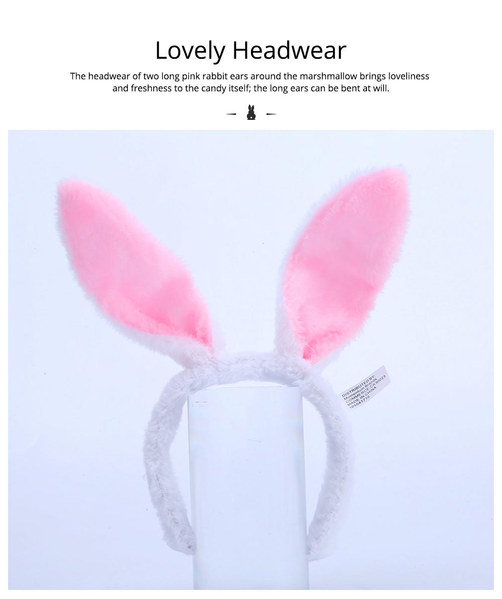 Rabbit Shape Marshmallow for Girlfriend as Birthday Gift, Creative Rabbit Cotton Candy A Pair as Present Rabbit Candy Floss 2