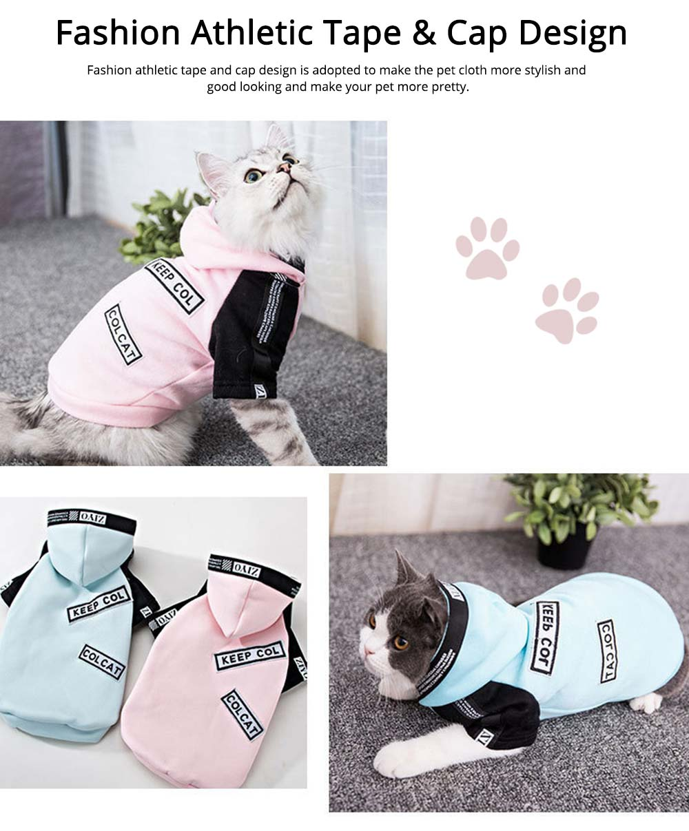 Milk Silk Cats Two-feet Pet Clothes, Stylish Pet Clothes Costume Apparel with Fashion Athletic Tape Especially for Cats, Skin Friendly  3