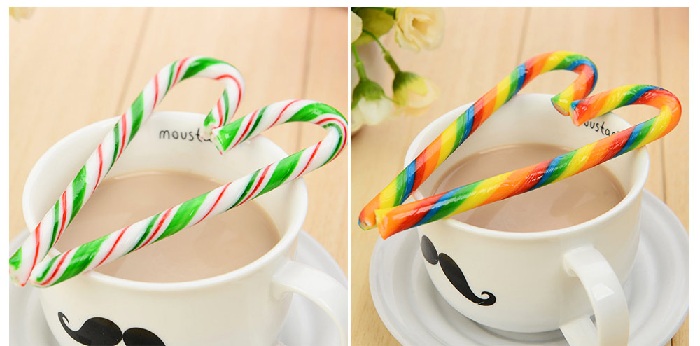 Candy Cane Gift Box for Easter Day, Rainbow Color Lollipop Creative Present Cane Candy, Multiple Taste 11