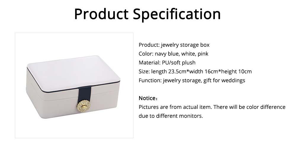 European Style Jewelry Storage Box of Double-layer Design, Simple Jewelry Storage Box for Earrings Ear Studs 6