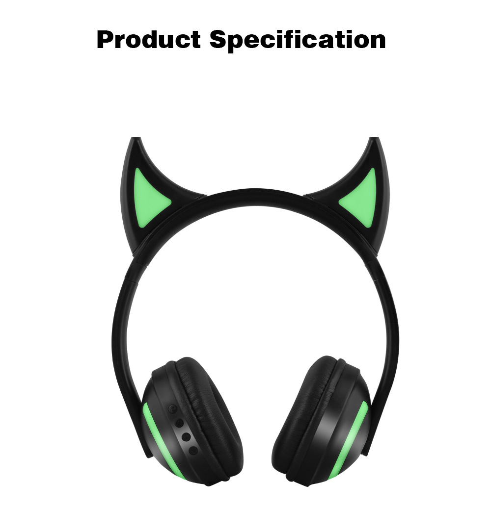 New Cat Ear Bluetooth Headset, Head-mounted Bluetooth Headset for Boys, Wireless Game Headphones 6