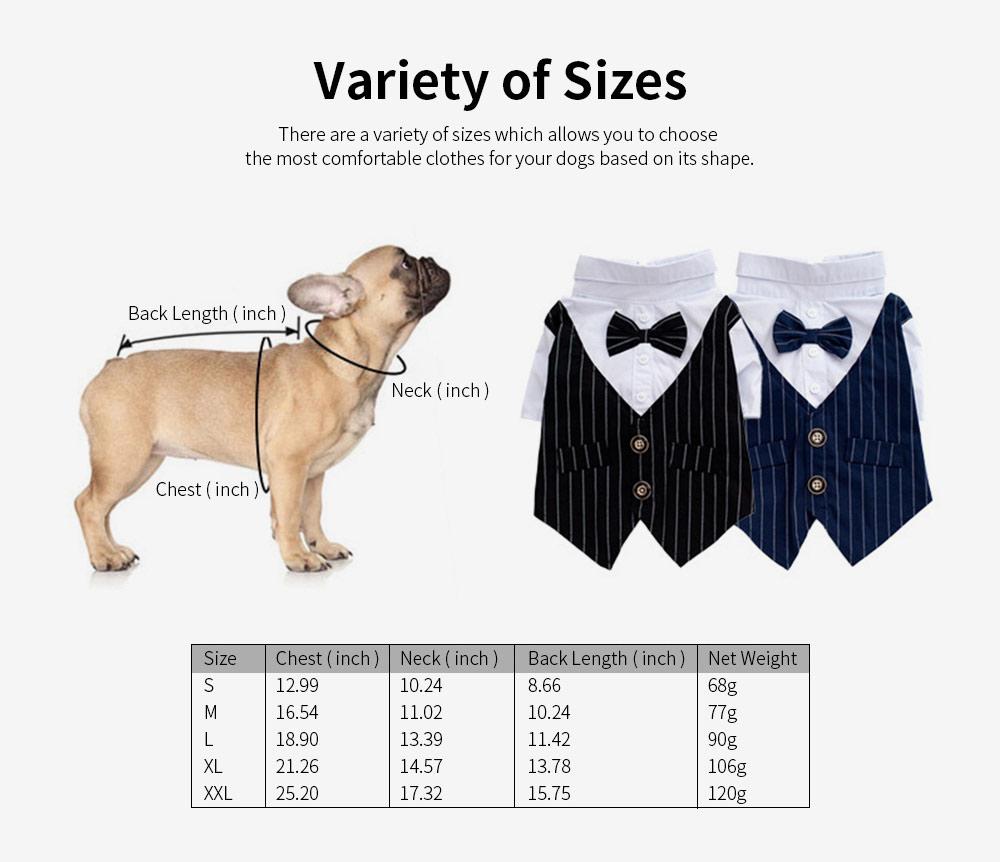Miniature Pet Sleepwear Clothes, Stylish Four Season Small Dog Thin Pet Clothes 4