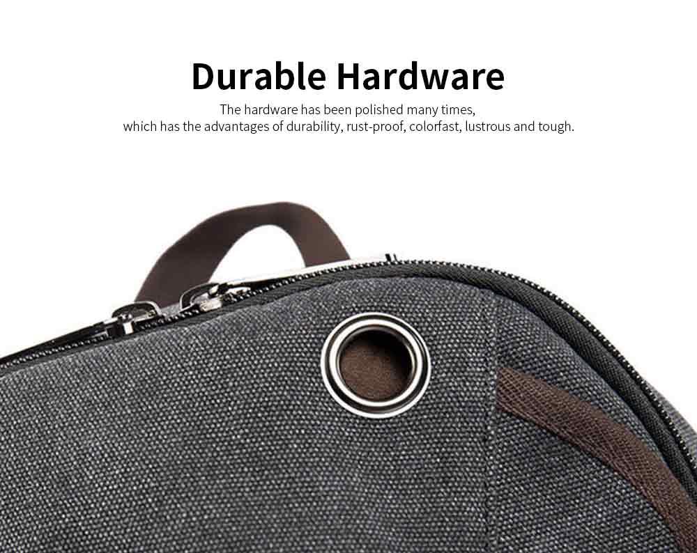 Fashion Vintage Canvas Men Laptop Backpack Messenger Shoulder Bag, Large Capacity Travel Bag Computer Notebook School Bag 3