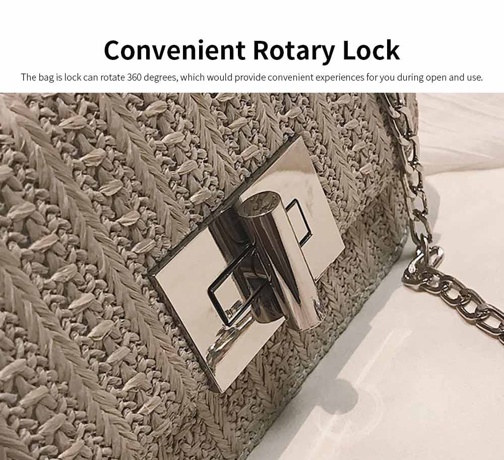 Fashion All-match Straw Weaving Women's Cross Body Shoulder Bag, Small Knit Handbag Satchel Messenger Shopping Purse 10