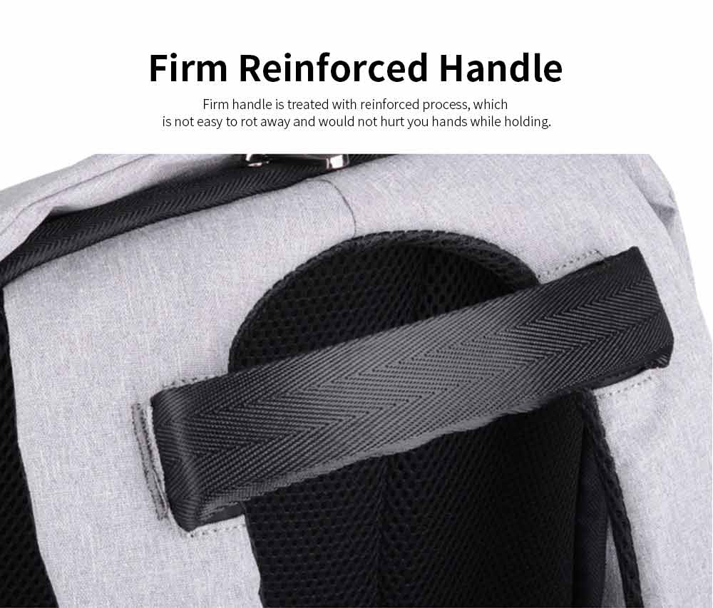 Business Waterproof Scratch-proof Oxford Cloth Casual Man Backpack, Anti-theft Shoulder Bag with USB Charging 6