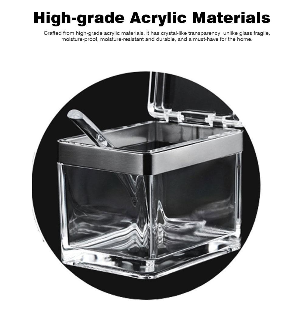 High-grade Acrylic Seasoning Jar Set with a Large Diameter, Creative Stainless-steel Seasoning Box Set for Home, Restaurant, Hotel 1
