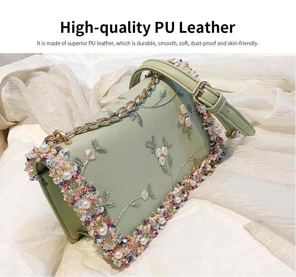 Stylish Luscious Lace Cording Women Shoulder Bag with Adjustable Shoulder Strap, PU Leather Crossbody Satchel Handbag 1
