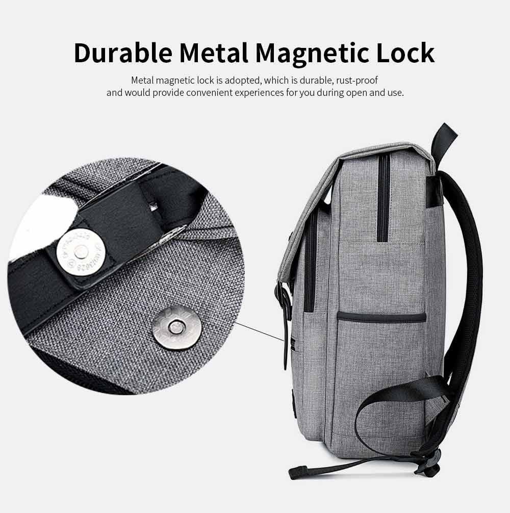 Oxford Cloth Casual Students Backpack, Fashion Minimalist Shoulder Bag Laptop Bag Travel Bag 3